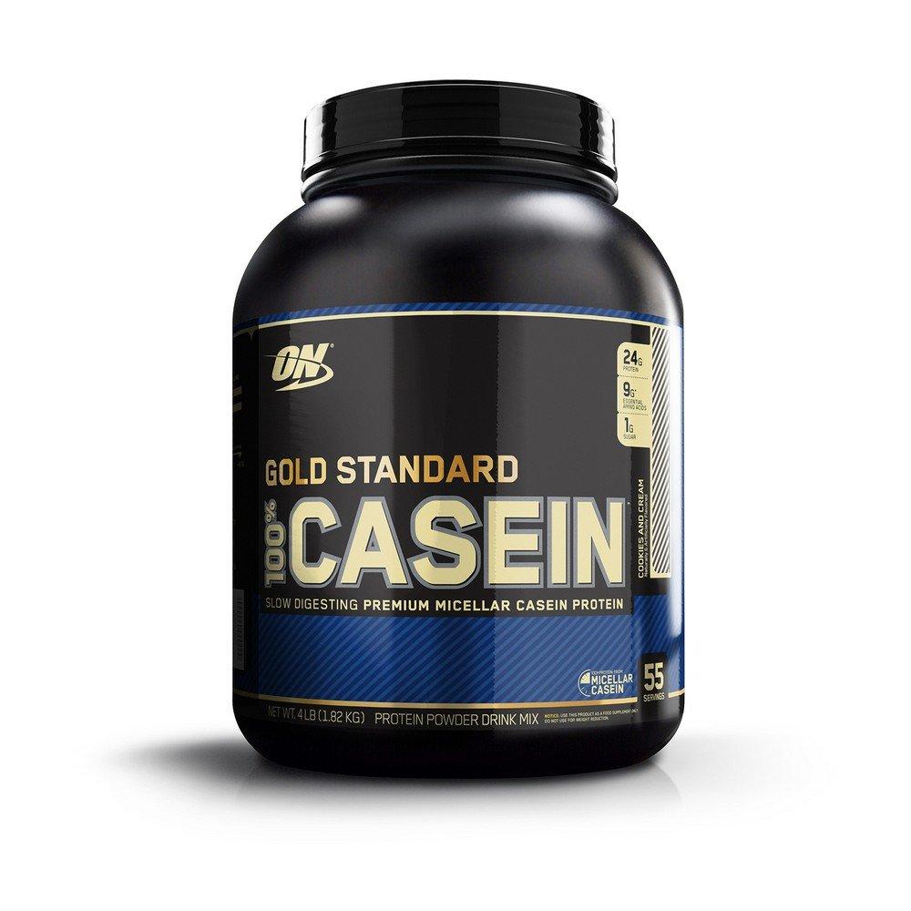 Optimum Nutrition Gold Standard 100% Casein Protein Powder, Cookies & Cream, 4lb