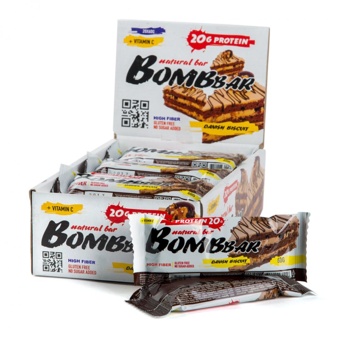 Bombbar Protein Bar датский бисквит