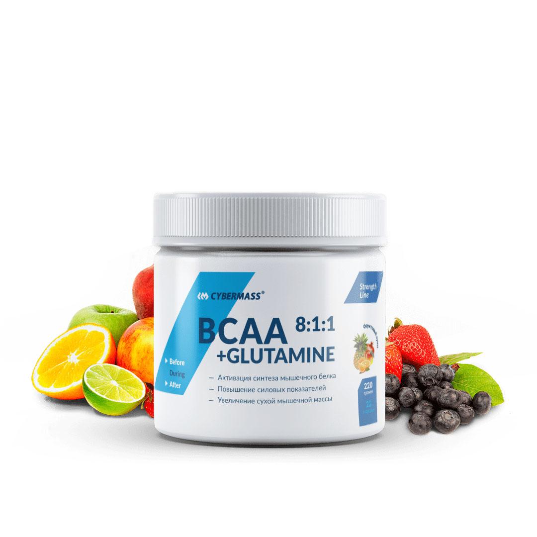 BCAA 8:1:1 + Glutamine Фруктовый пунш